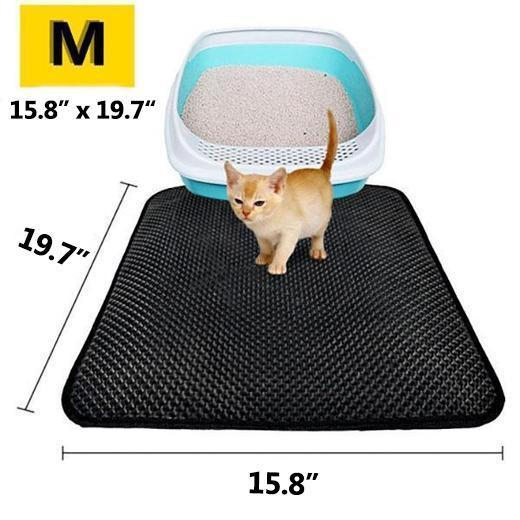 2019 New Double Layer Larger Size Cat Litter Mat( Silver Ion Antimicrobial Protection)