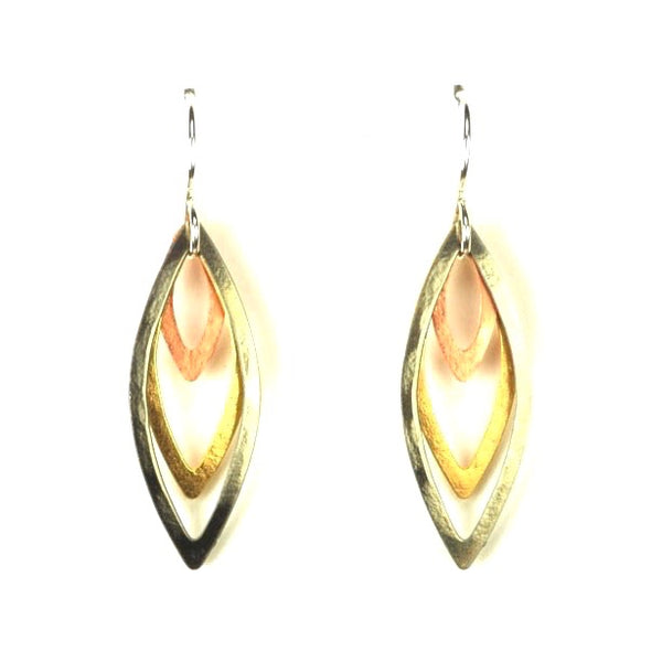 LAYERED OPEN SPEAR SHAPES EARRINGS