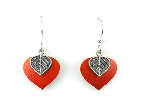 Layered Aspen Leaf Earring