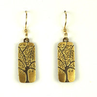 Rectangle Tree Earrings