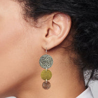 Large flowerburst earring
