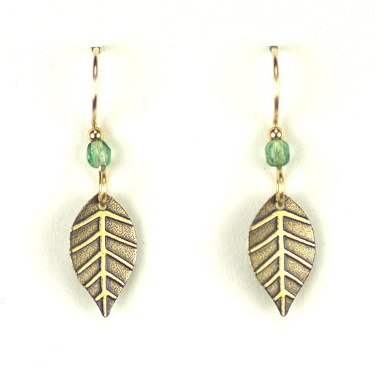 SIMPLE LEAF W/BRASS/GREEN