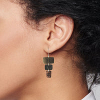 Earring 3 connected rectangles-Happiness, love, truth