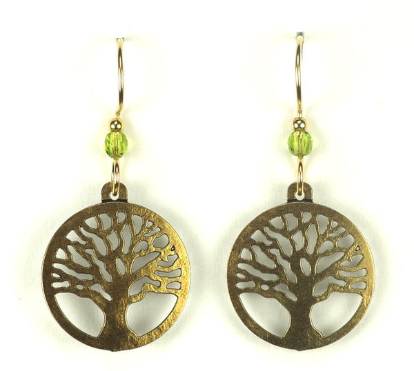 TREE ROUND BRASS /PERIDOT