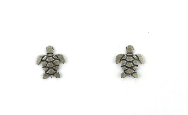 SEA TURTLE POST SILVER