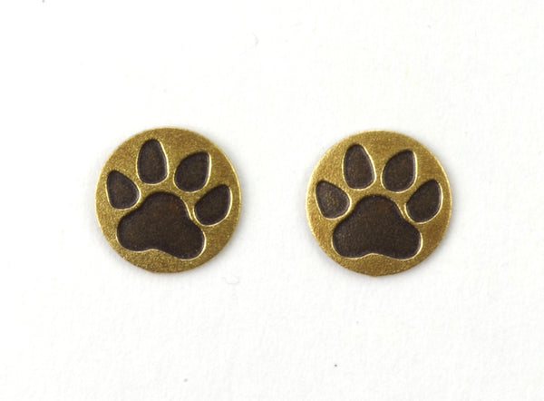 PAW PRINT POST BRASS