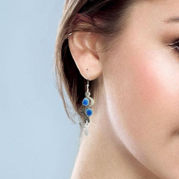 Curves and Dots Earring
