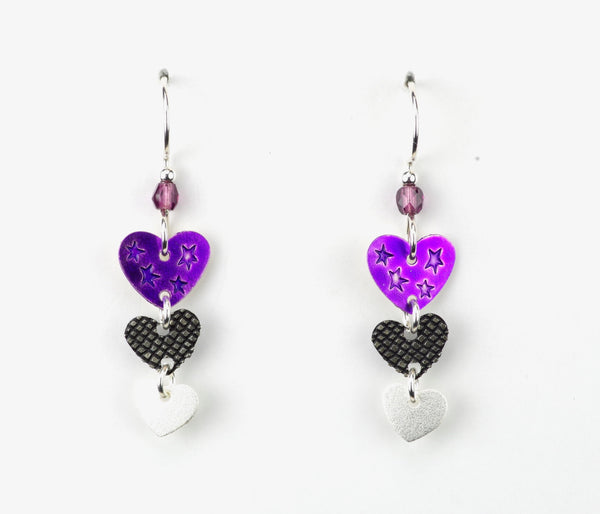 Three Hearts Earring
