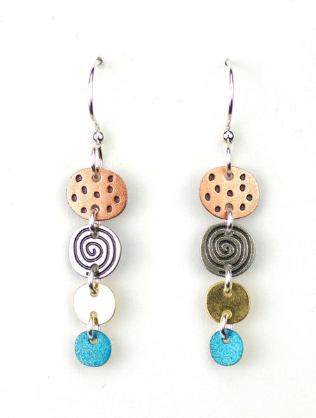 Graduated Circles Earring