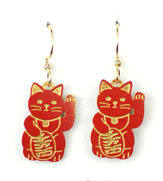 Red & Gold Good Luck Cat