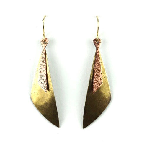 Two-part long triangles - Brass and copper