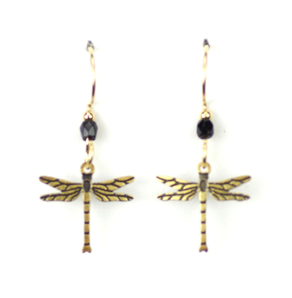 DRAGON FLY SMALL GOLD  BLACK