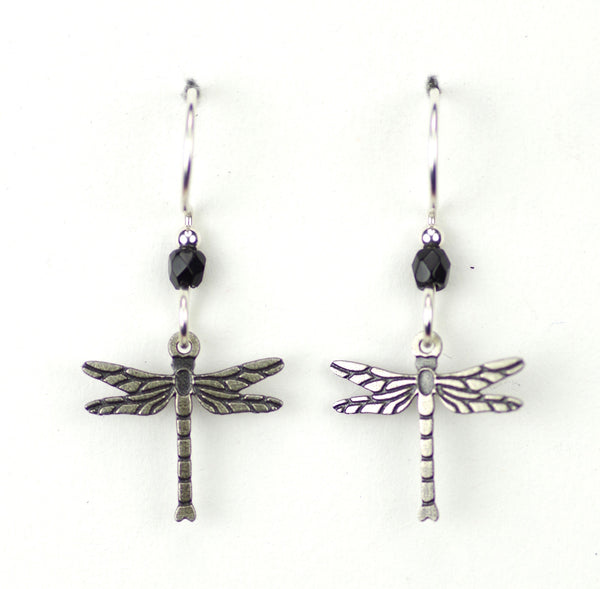 DRAGON FLY SMALL SILVER  BLACK