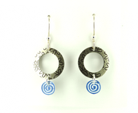 Silver Donut Earrings