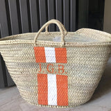 Stripes straw bag