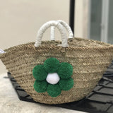 Rustic straw bag