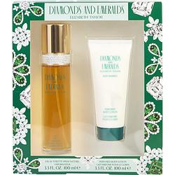 DIAMONDS & EMERALDS by Elizabeth Taylor - EDT SPRAY 3.3 OZ & BODY LOTION 3.3 OZ