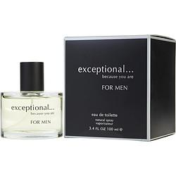 EXCEPTIONAL-BECAUSE YOU ARE by Exceptional Parfums - EDT SPRAY 3.4 OZ