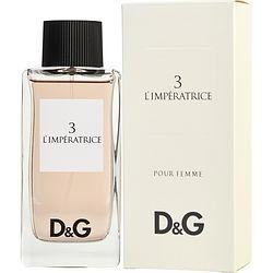 D & G 3 L'IMPERATRICE by Dolce & Gabbana - EDT SPRAY 3.3 OZ