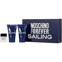 MOSCHINO FOREVER SAILING by Moschino - EDT .12 OZ MINI & AFTERHAVE BALM .8 OZ & SHOWER GEL .8 OZ