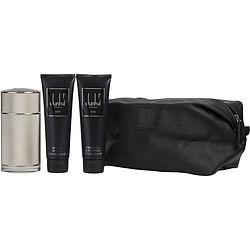 DUNHILL ICON by Alfred Dunhill - EAU DE PARFUM SPRAY 3.4 OZ & AFTERSHAVE BALM 3 OZ & SHOWER GEL 3 OZ & TOILETRY BAG