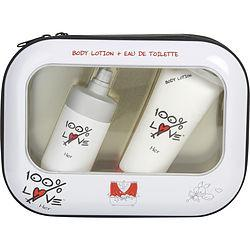 100% LOVE by Vapro International - EDT SPRAY 2.5 OZ & BODY LOTION 3.4 OZ