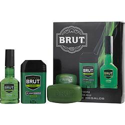 BRUT by Faberge - AFTER SHAVE COLOGNE SPRAY 3 OZ & DEODORANT STICK 2.25 OZ & SOAP 3 OZ