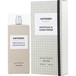 NOTEBOOK PATCHOULY & CEDAR WOOD by Selectiva - EDT SPRAY 3.4 OZ