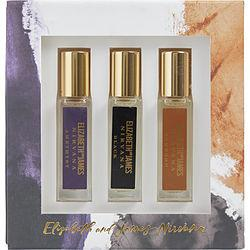 NIRVANA VARIETY by Elizabeth and James - 3 PIECE WITH NIRVANA AMETHYST & NIRVANA BLACK & NIRVANA BOURBON AND ALL ARE EAU DE PARFUM ROLLERBALL .24 OZ MINI