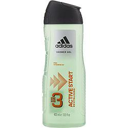 ADIDAS ACTIVE START by Adidas - 3 BODY & HAIR & FACE SHOWER GEL 13.5 OZ