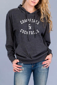 Campfire and Cocktails Hoodie