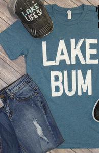 Lake Bum blue tee