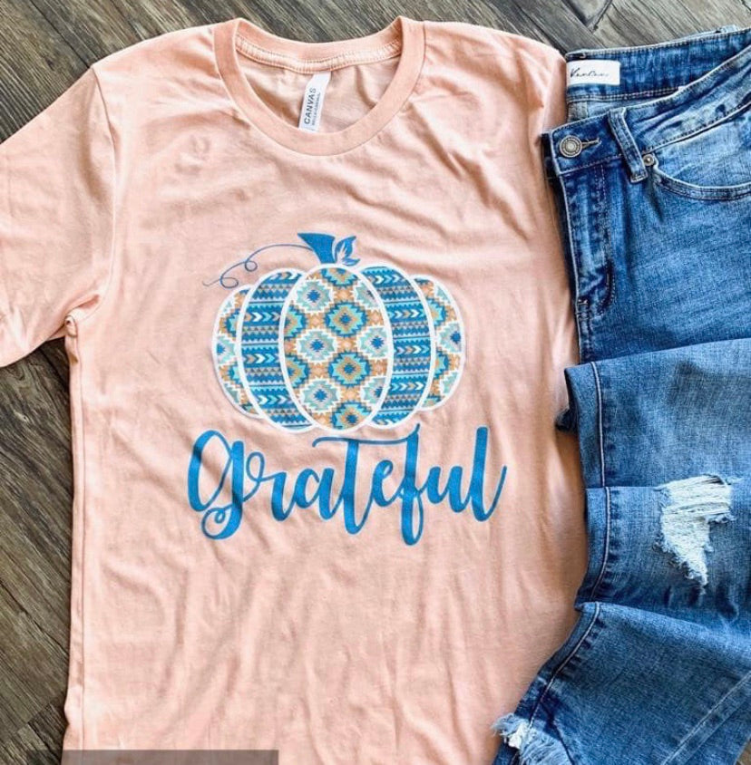 Grateful pumpkin tee