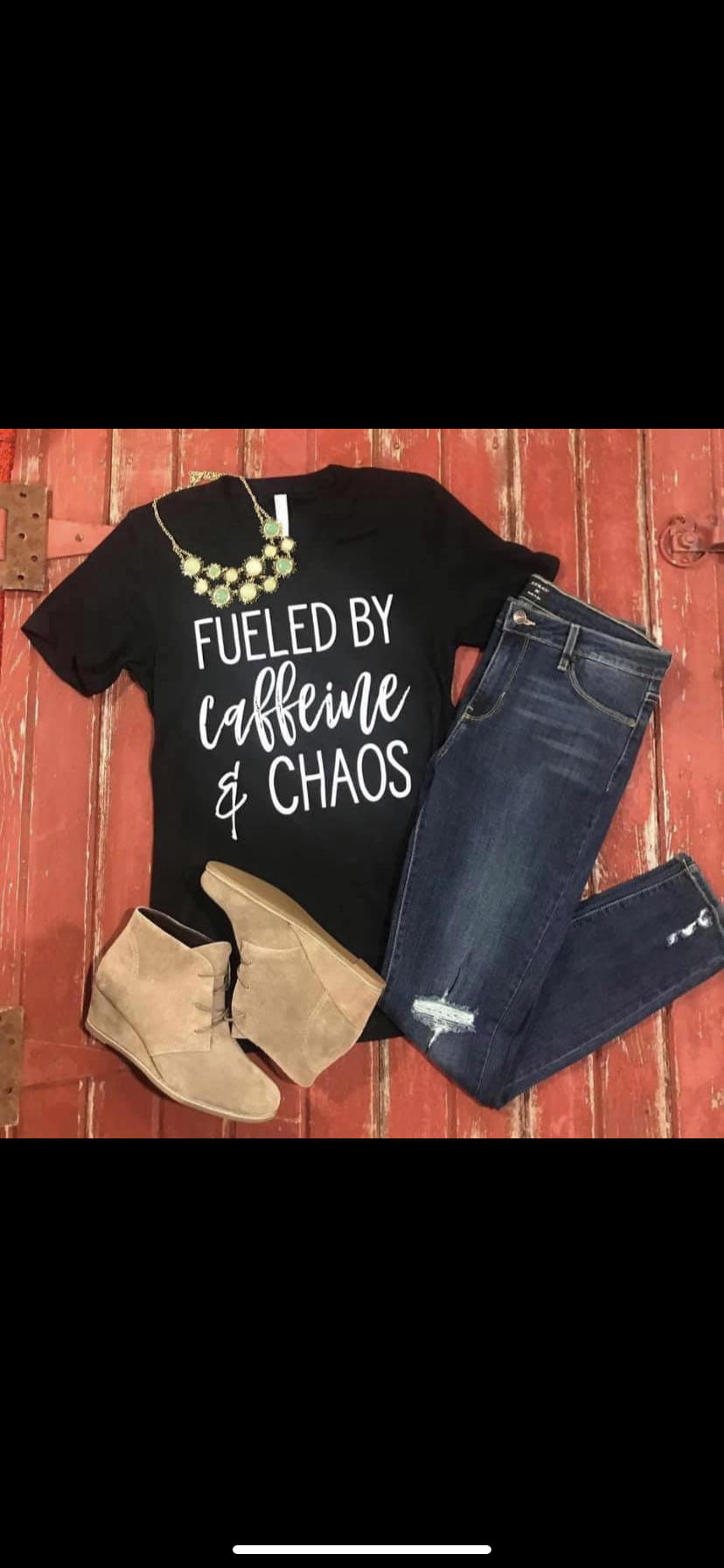 Fueled by caffeine and chaos tee