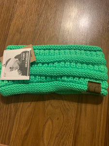 C.c ponytail headband neon green