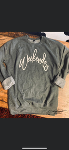 Weekends sweatshirt sweater
