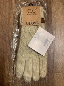 C.C sweater style gloves beiger