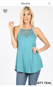 Lace zenanna tank top