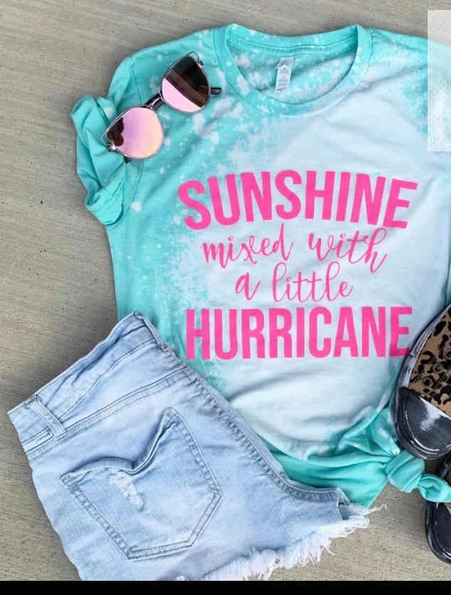 Sunshine Mixed with a little Hurricane Bleached Tee Shirt