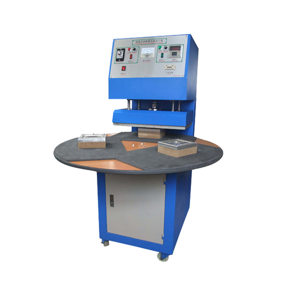 Two/Three-Station Working, Rotary, Uninterrupted Work. Blister to Card Sealing Machine