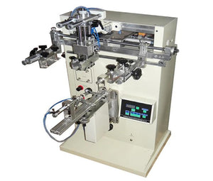 Small size manual cylinder screen printing machine