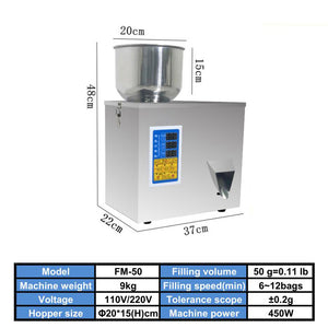 1~9999g Automatic small quantitative weighing filling packing machine weigh filler for coffee beans/cereals/nuts/granules/powder/hardwares