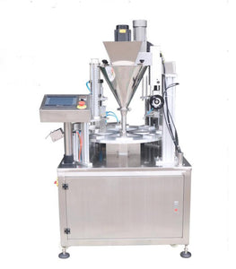 Fully Automatic Water Cup Filling And Sealing Machine , Rotary Yogurt Cup Packaging Machine For Liquid/Paste