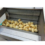 Potato cleaning and peeling machine;lotus root peeling machine