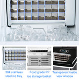 25KG Small commercial household square ice cube making machine for milk tea shop, bar, water bar