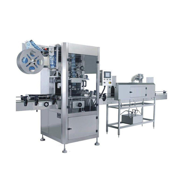PVC,PET bottle automatic shrink sleeve label wrapping labeling machine, bottle label shrink wrap machine