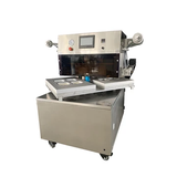 Rotary cooked food tray vacuum skin packaging machine , film cover VSP machine for seafood/steak/pork/fish, rice vacuum skin packing machine