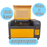 The effective working area of the LCM-4060 laser cutting machine is 40x60cm. There are three laser powers of 50W \ 60W \ 80W to choose from, and its laser type is CO2.