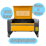 The effective working area of LCM-6090 laser cutting machine is 60x90cm. There are three laser powers of 50W \ 60W \ 80W to choose from, and its laser type is CO2.