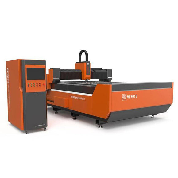 This machine uses orange and gray color matching, which makes the machine more eye-catching. It can cut 0.1 ~ 10mm metal sheet by high energy laser beam.